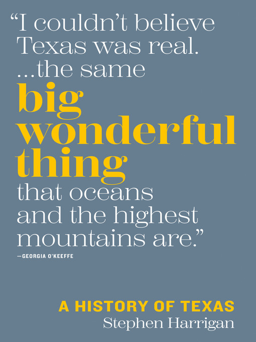 Title details for Big Wonderful Thing by Stephen Harrigan - Wait list