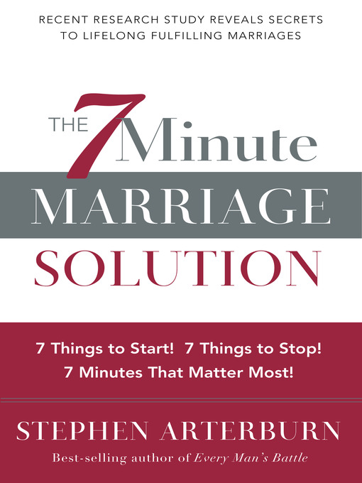 Title details for The 7-Minute Marriage Solution by Stephen Arterburn - Wait list