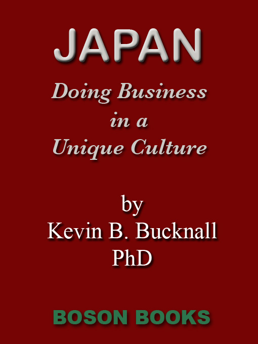 Cover of Japan: Doing Business in a Unique Culture