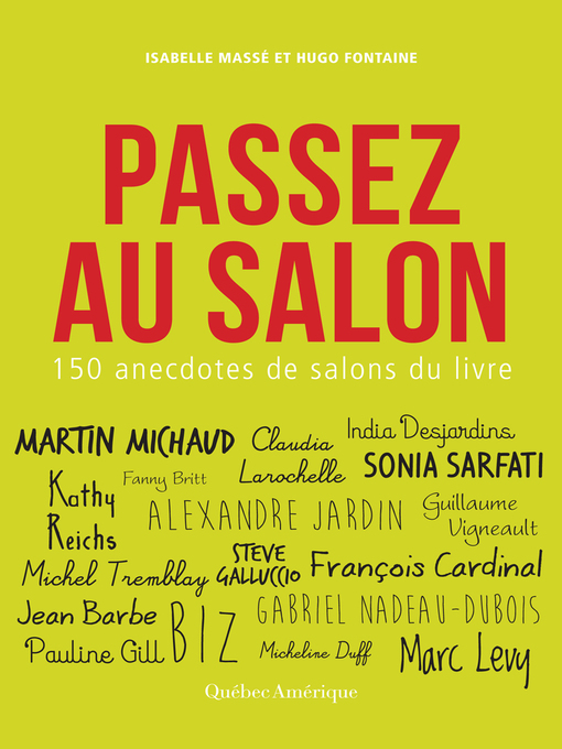 Cover of Passez au salon