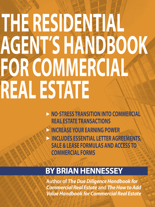 Title details for The Residential Agent's Handbook for Commercial Real Estate by Brian Hennessey - Wait list
