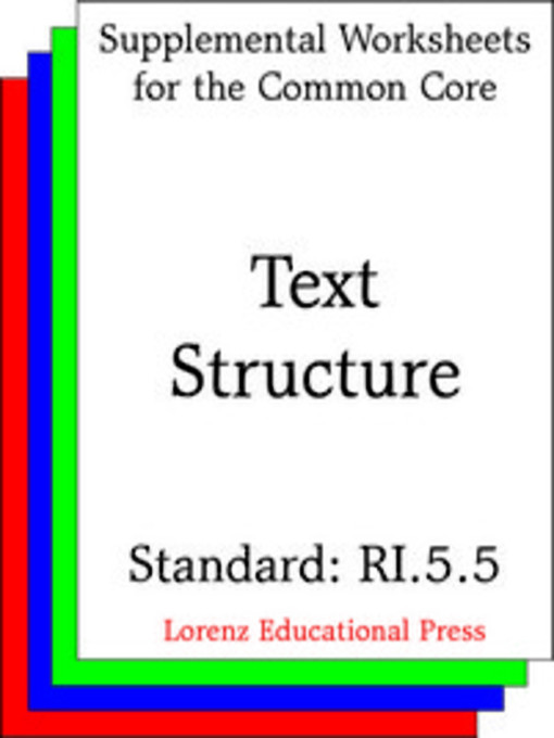 Text Structure Worksheet Pdf
