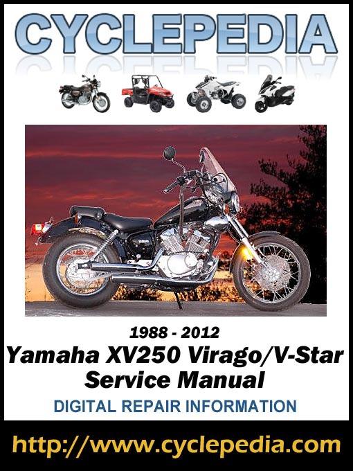 yamaha xv250 virago v star 1988 2012 service manual media on rh mediaondemand overdrive com 2009 Yamaha Virago 250 2009 Yamaha Virago 250