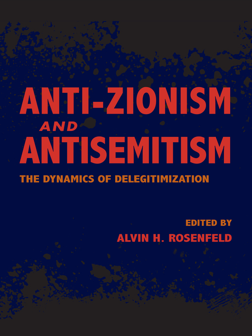 Cover of Anti-Zionism and Antisemitism