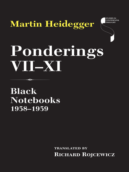 Title details for Ponderings VII–XI by Martin Heidegger - Available