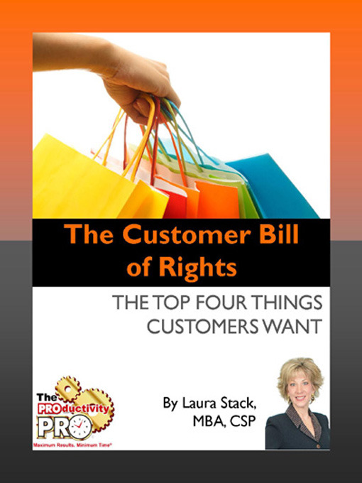Title details for The Customer Bill of Rights by Laura Stack - Available