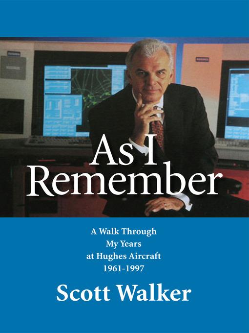 Title details for As I Remember by Scott Walker - Wait list