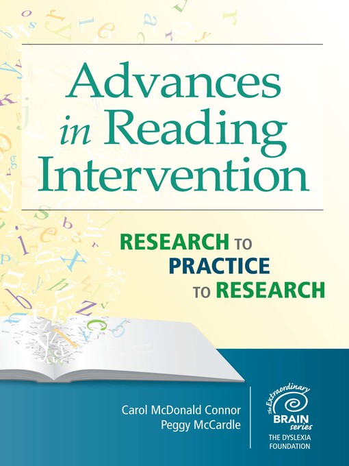 Title details for Advances in Reading Intervention by Carol McDonald Connor - Available