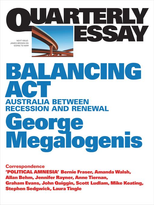 George megalogenis quarterly essay