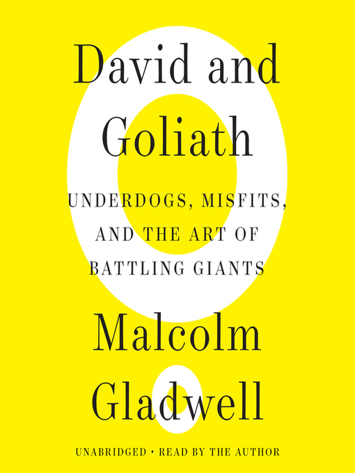 Title details for David and Goliath by Malcolm Gladwell - Wait list