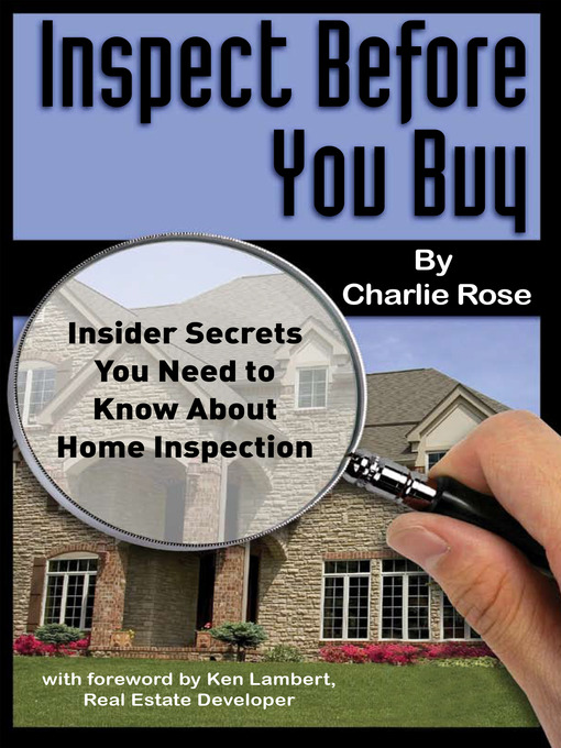 Title details for Inspect Before You Buy by Charlie Rose - Available