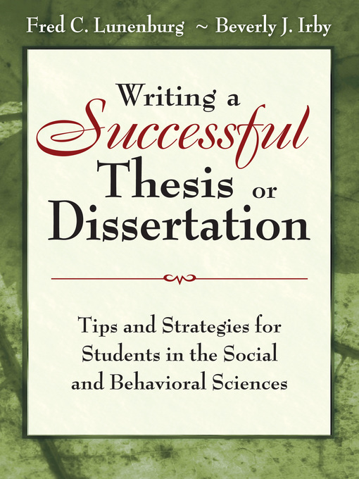 writing a winning thesis