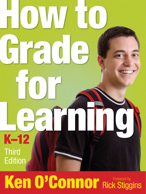 Cover of How to Grade for Learning, K-12