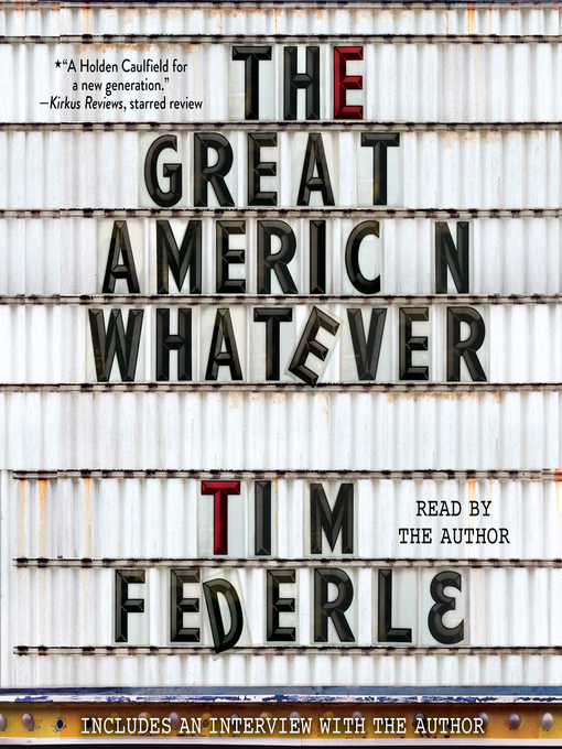 Title details for The Great American Whatever by Tim Federle - Wait list