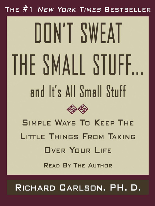 Cover of Don't Sweat the Small Stuff...And It's All Small Stuff