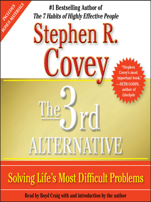 Title details for The 3rd Alternative by Stephen R. Covey - Available