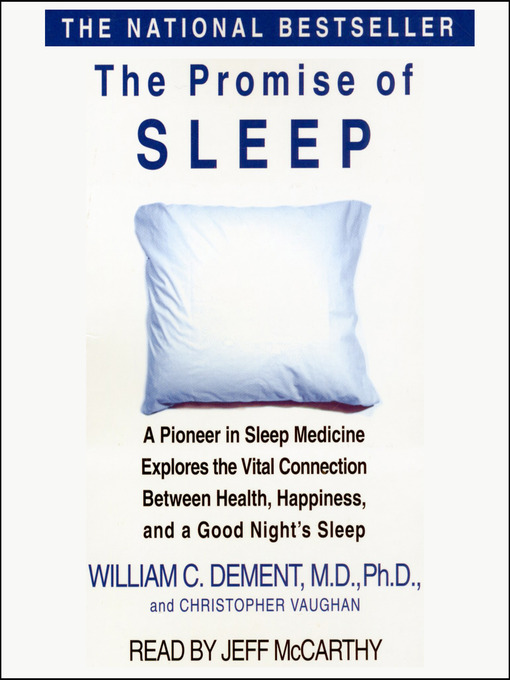 Title details for The Promise of Sleep by Jeff McCarthy - Wait list