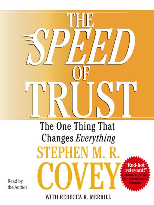 Cover of The SPEED of Trust