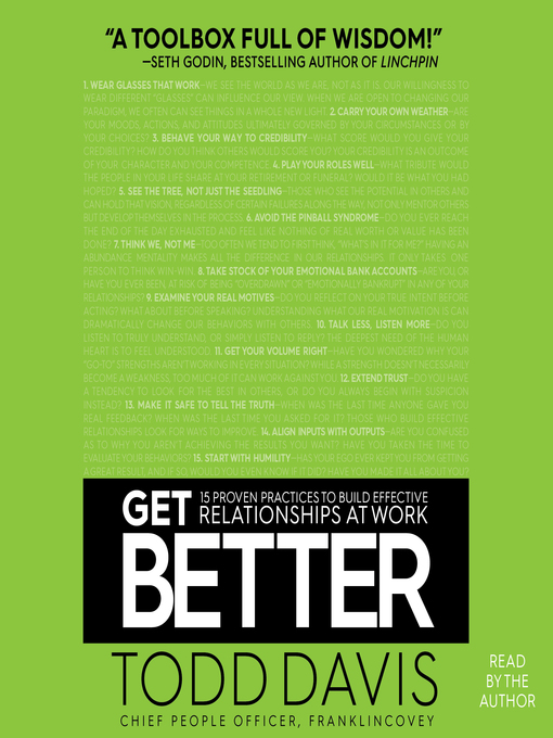 Title details for Get Better by Todd Davis - Wait list