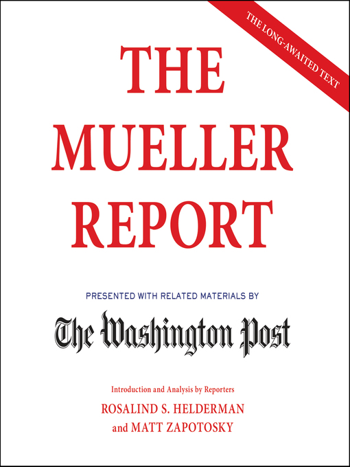 Title details for The Mueller Report by The Washington Post - Wait list
