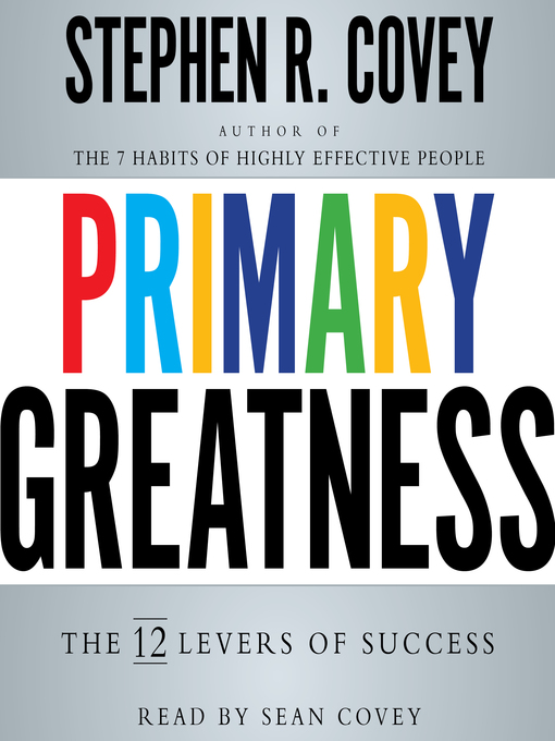 Title details for Primary Greatness by Stephen R. Covey - Wait list