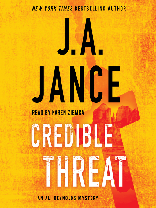 Title details for Credible Threat by J.A. Jance - Wait list