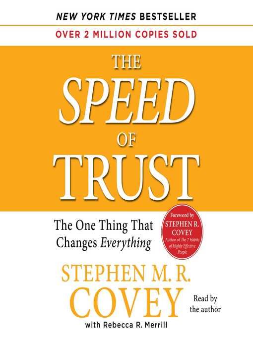 Title details for The Speed of Trust by Stephen M.R. Covey - Wait list