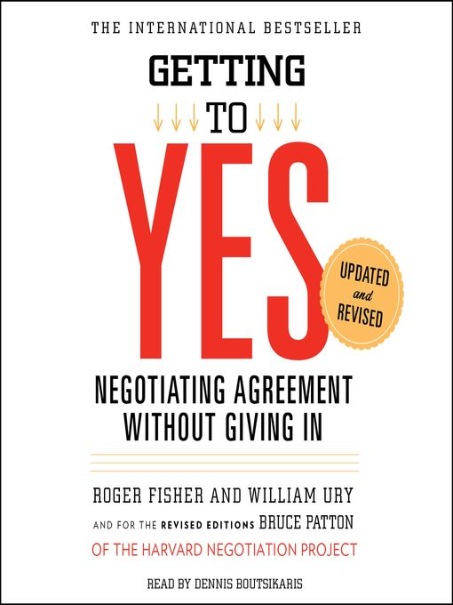 Title details for Getting to Yes by Roger Fisher - Wait list