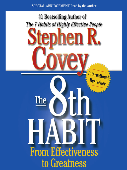 Title details for The 8th Habit by Stephen R. Covey - Wait list