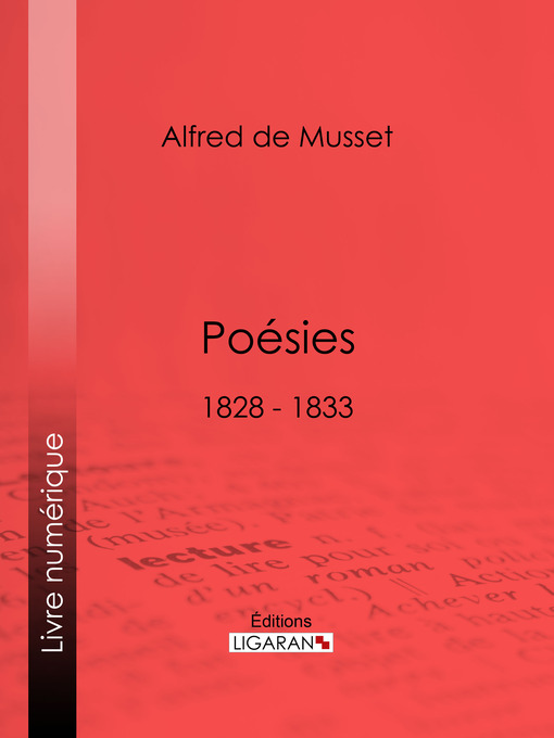 Cover of Poésies