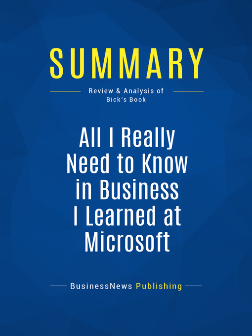 Title details for Summary by BusinessNews Publishing - Available