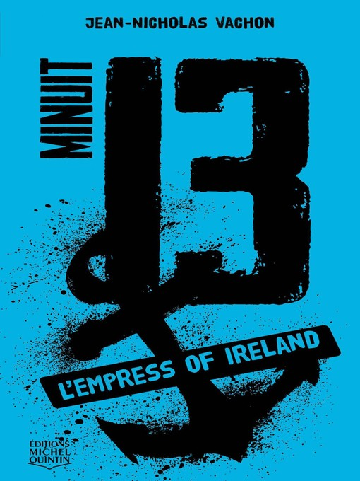 Cover of Minuit 13--L'Empress of Ireland