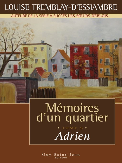 Title details for Adrien by Louise Tremblay d'Essiambre - Available
