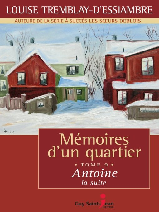 Title details for Antoine, la suite by Louise Tremblay d'Essiambre - Available