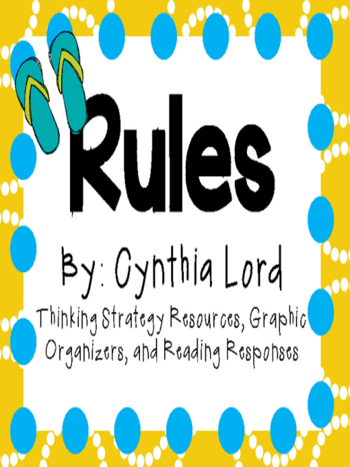 book report on rules by cynthia lord Shes making me write a page long book report anyone cynthia lord's debut novel takes a candid in the book rules by cynthia lord i can.
