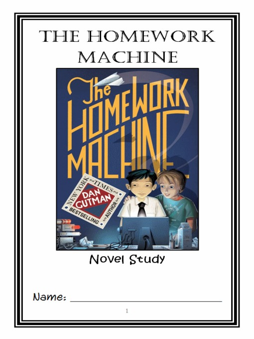 homework machine Snik, brenton, judy, and kelsey haven't stayed in the best touch since last year's big homework-machine scandal but they are all pulled back together again when brenton realizes that the most powerful part of the machine that lets you cheat on homework was never really destroyed.