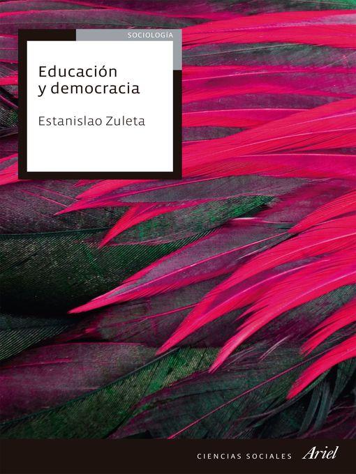 Cover of Educación y democracia
