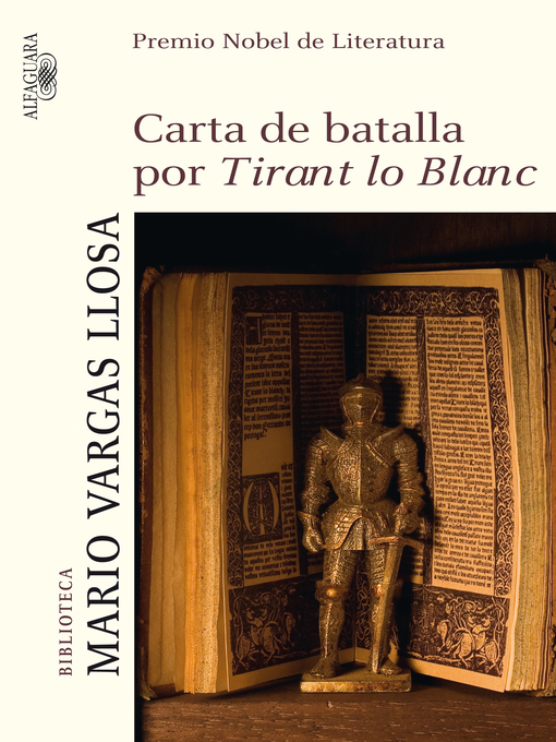 Title details for Carta de batalla por Tirant lo Blanc by Mario Vargas Llosa - Wait list