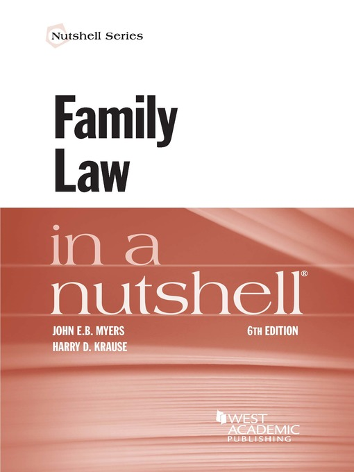Title details for Family Law in a Nutshell by John Myers - Wait list