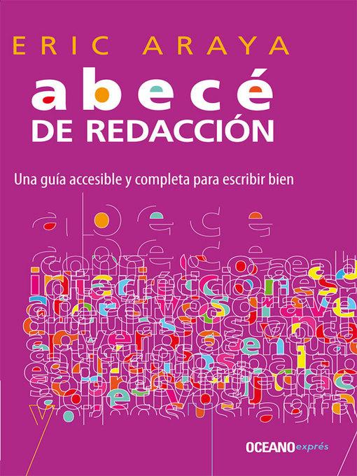 Title details for Abecé de redacción by Eric Araya Araya - Wait list