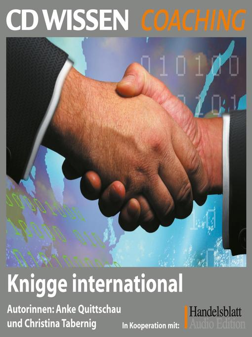 Title details for Knigge international by Anke Quittschau - Available