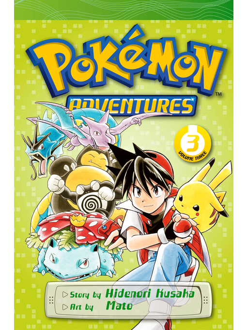 Cover of Pokémon Adventures, Volume 3