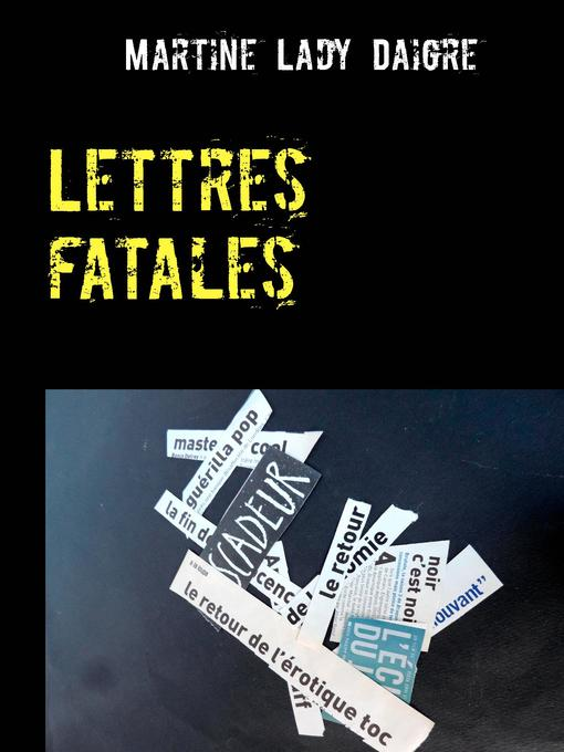 Cover of Lettres fatales