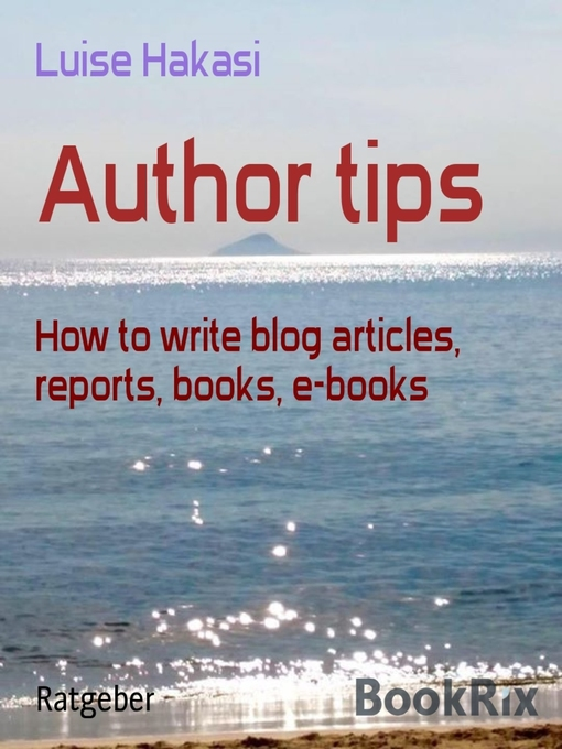 Title details for Author tips by Luise Hakasi - Wait list