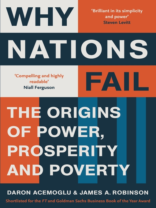 """why nations fail book rep1 To the editors: jared diamond provides an engaging review of our book why nations fail [nyr, june 7] though diamond accepts the importance of institutions and their political roots—the main focus of our book—and asserts that """"perhaps they provide 50 percent of the explanation for national differences in prosperity,"""" his review is."""