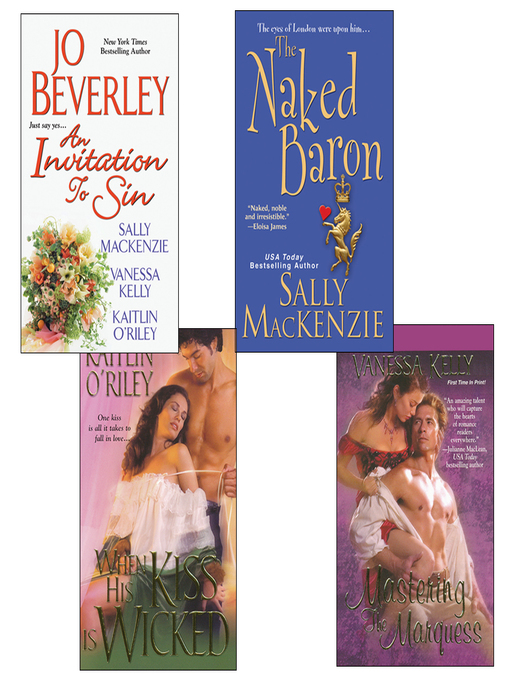 Title details for Hot Historicals Bundle with an Invitation to Sin, the Naked Baron, When His Kiss Is Wicked, & Mastering the Marquess by Sally MacKenzie - Wait list