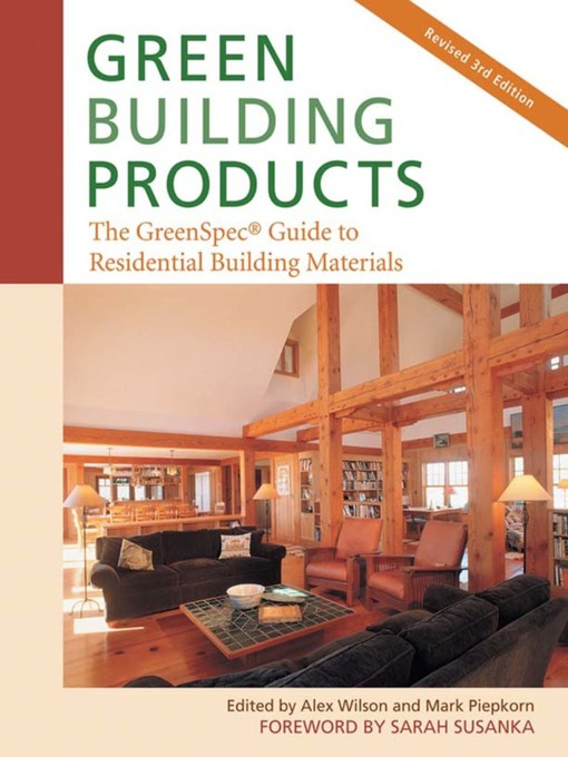 Title details for Green Building Products by Alex Wilson - Available