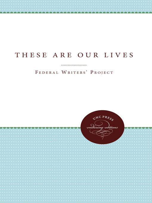 Cover of These Are Our Lives