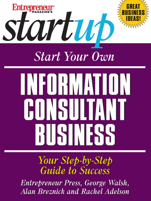 Title details for Start Your Own Information Consultant Business by Entrepreneur Press - Wait list