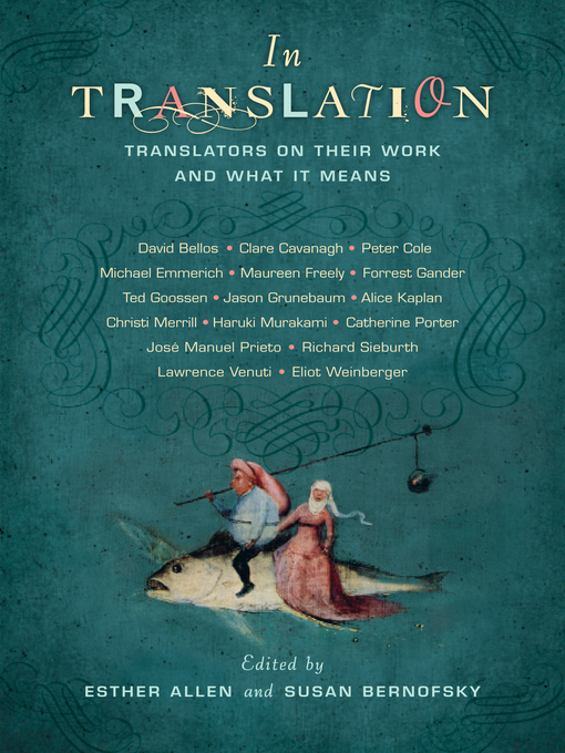 Title details for In Translation by Esther Allen - Available